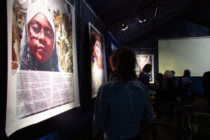 Portraits of Tanzanian Women in Resistance at the Alliance Française in Arusha.