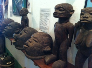Traditional Makonde carvings on display at ADEA.